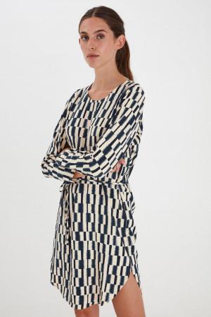 Ichi béžovo-modré šaty Ihcass -
