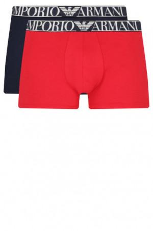 Boxerky 2pack 111912 1P720 34374 tmavě modrá/červená - Emporio Armani červená-modrá