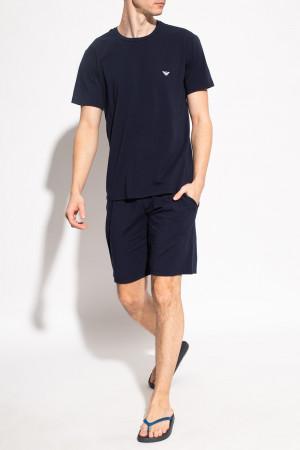 Pánské pyžamo 111573 1P720 27435 tmavě modré - Empori Armani tmavě modrá