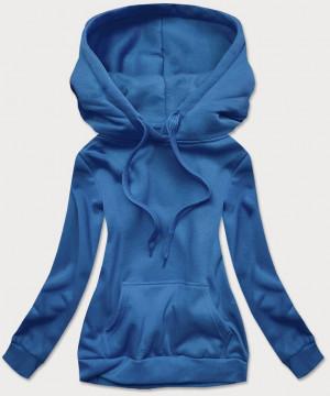 Světle modrá dámská tepláková mikina (W02) modrý S (36)