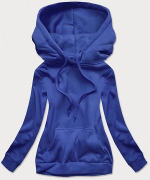 Tepláková dámská mikina v chrpové barvě (W02) modrý S (36)