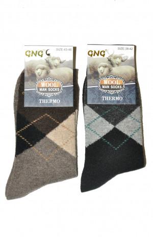 Pánské ponožky 8788 Thermo Wool - GNG tm.šedá-vzor 39-42