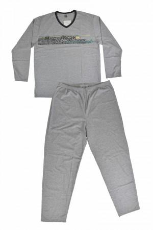 Pánské pyžamo 590 BIG C.melanž 3XL