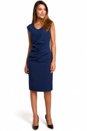 Dámské šaty S174 - Stylove tmavě modrá XL-42