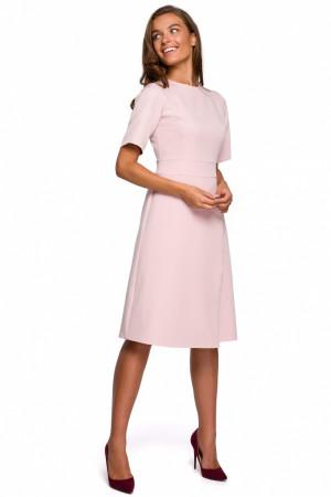 Dámské šaty S240 - Stylove pudrovo-růžová