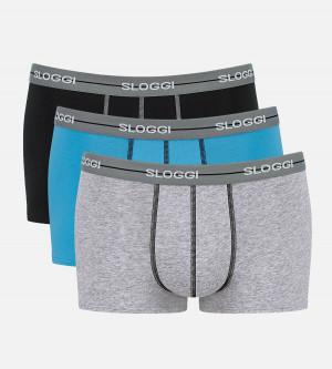 Pánské boxerky men Start Hipster C3P - Sloggi kombinace šedé (M013) 0006