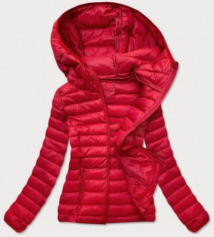 Červená prošívaná dámská bunda (20313) Červené S (36)