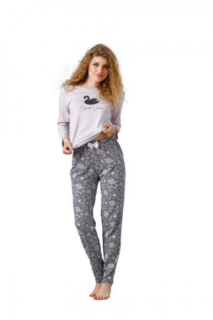 Dámské pyžamo MILA 1084 Šeřík 2XL