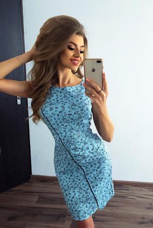 Dámské šaty 004-7 - MORIMIA modrá