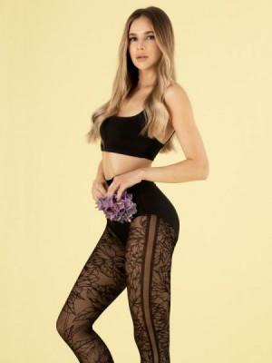 Fiore G 6019 Lush Garden 30 den Punčochové kalhoty 3-M black