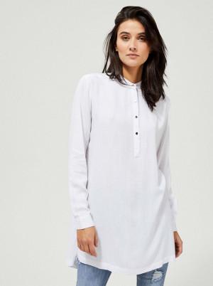 Moodo bílá dlouhá košile