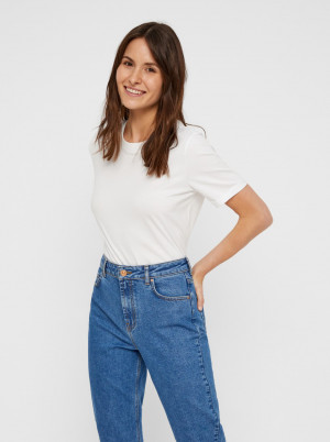 Bílé basic tričko Pieces Ria