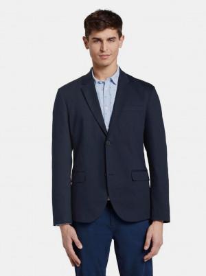 Tmavě modré pánské sako Tom Tailor Denim