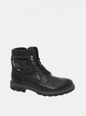 Černé pánské zimní kotníkové boty Tom Tailor -