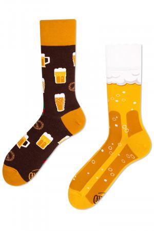 Many Mornings žluté ponožky Craft Beer - 39-42