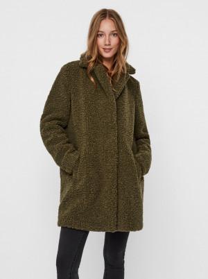 Khaki zimní kabát Noisy May Gabi