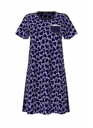 Dámská noční košile 10900-253 modrá - Vamp modrá