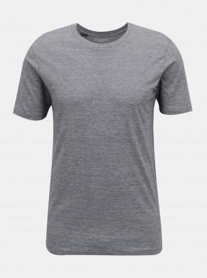 Selected Homme šedé pánské basic tričko