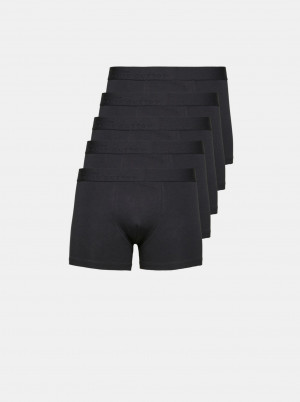 Selected Homme 5 pack černých boxerek Aiden
