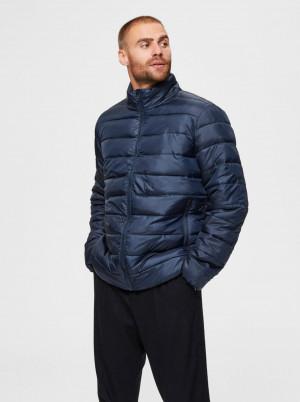 Selected Homme tmavě modrá pánská bunda Plastic