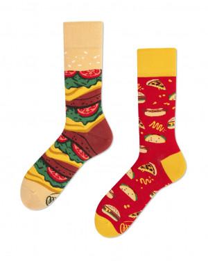 Many Mornings barevné ponožky Fast Food - 39-42