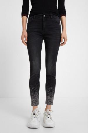 Desigual černé džíny Denim Nola -