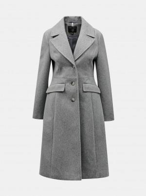 Dorothy Perkins šedý kabát