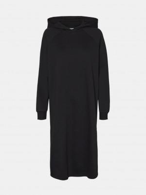 Noisy May černé mikinové šaty Helene