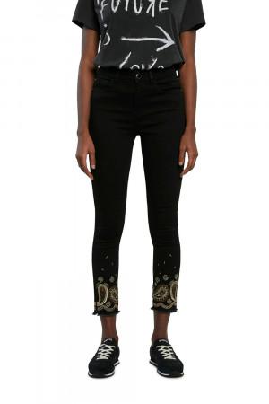 Desigual černé džíny Denim Belgica -