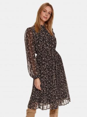 TOP SECRET černé květované šaty