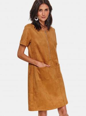 TOP SECRET hnědé šaty