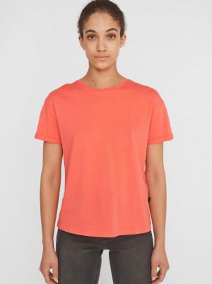 Noisy May oranžové dámské basic tričko Brandy