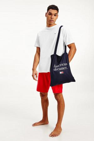 Tommy Hilfiger červeno-bílé pánské pyžamo PJ in a Bag