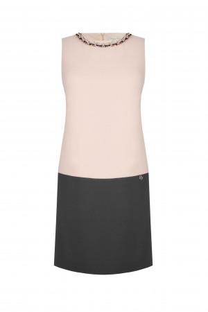 Rinascimento pudrovo-šedé elegantní šaty