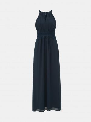 Vila modré maxi šaty