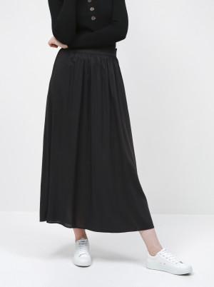 Only černá dámská dlouhá sukně Venedig