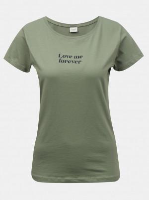 Jacqueline de Yong zelené dámské tričko Chicago