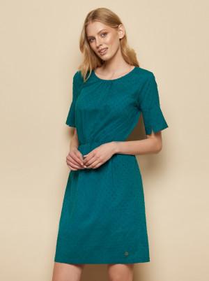 Tranquillo petrolejové šaty se vzory
