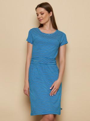 Tranquillo modré pruhované šaty