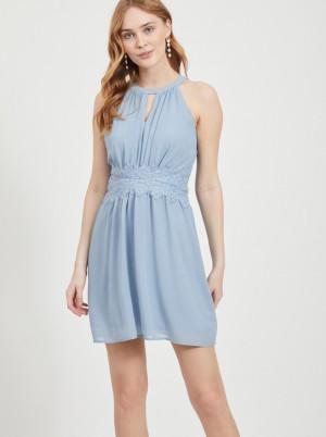 Vila modré společenské šaty