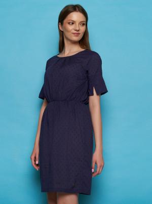 Tranquillo modré šaty se vzory