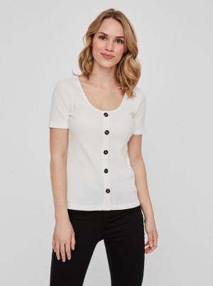 Vero Moda bílé dámské tričko Helsinki