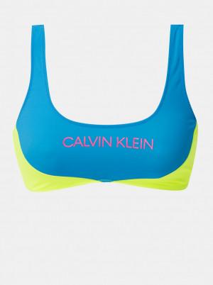 Calvin Klein modro-žlutý horní díl plavek s logem