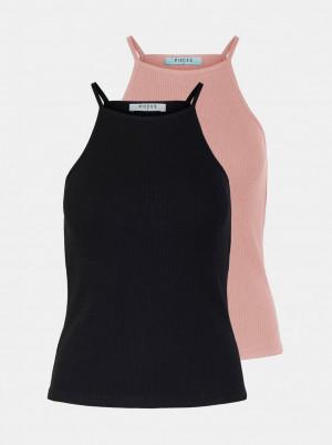 Pieces 2 pack tílek v růžové a černé barvě Ardena
