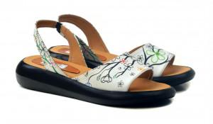 Goby bílé sandály Cherry Blossom -