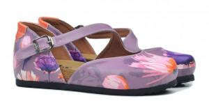 Goby fialové sandály Lila Flowers -