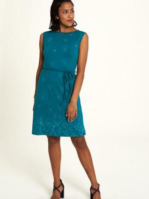 Tranquillo zelené šaty se vzory