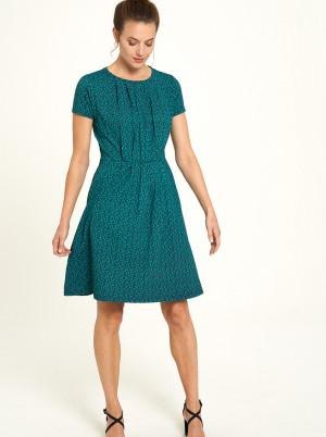 Tranquillo zelené áčkové šaty se vzory
