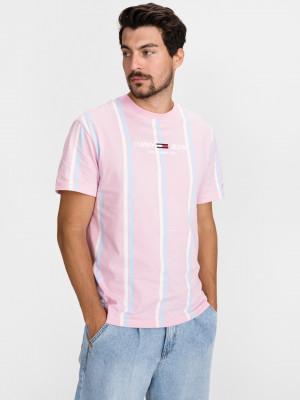 Pastel Stripe Triko Tommy Jeans Růžová