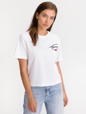 Collegiate Back Logo Triko Tommy Jeans Bílá
